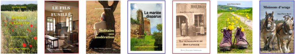 romans de jean-pierre barré, auteur littéraire